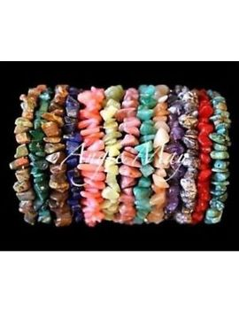 "Wholesale 5   25 Gemstone Chip Crystal Healing Yoga Stretch Bracelets 6.5""   10"" by Angie May Store"