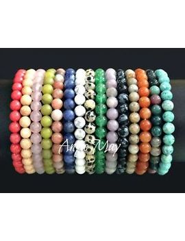 Wholesale 50, 100 Genuine Gemstone Crystal Healing Stretch Bracelets 6mm Beads by Angie May