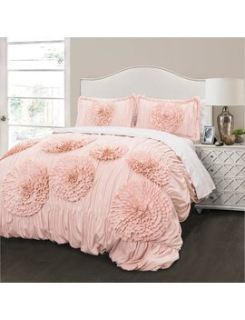 Serena Comforter Pink Blush 3 Piece Set by Lush Decor