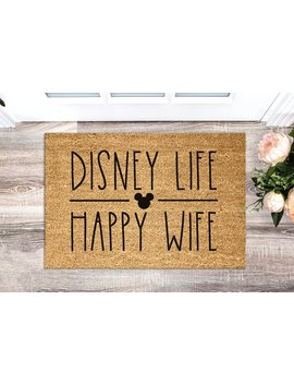 Disney Life Doormat   Disney Home Decor   Welcome Mat   Wedding   Housewarming   Disney Gift   Disney Doormat   Disneyworld by Etsy