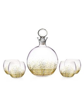 Fitz And Floyd Luster 5 Piece Decanter Set, Gold by Fitz And Floyd
