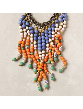 Pepita Anthropologie Beaded Bib Statement Necklace by Anthropologie