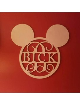 Disney Monogram   Mickey Mouse Ears  Monogram   Disney Decor   Bride And Groom Disney   Disney Last Name Sign   Walt Disney   Mickey Mouse by Etsy