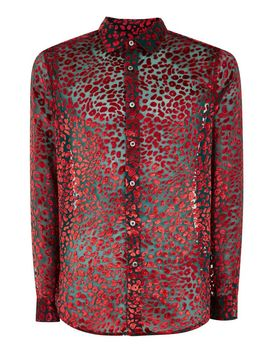 Red Floral Slim Shirt by Topman
