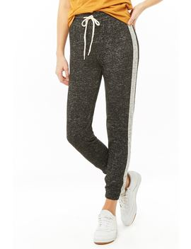 Striped Trim Heathered Joggers by Forever 21