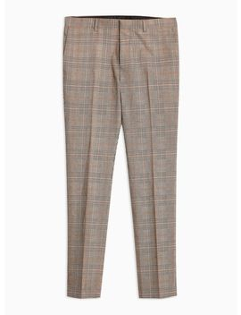 Stone Check Super Skinny Trousers by Topman