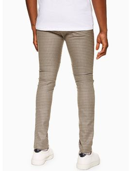 Stone Puppytooth Trousers by Topman
