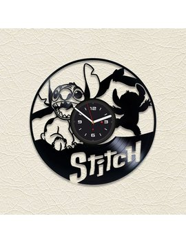 Lilo And Stitch Vinyl Record Clock Nursery Decor Wall Clock Lilo Stitch Disney Stitch Modern Wall Clock Lilo Vinyl Record Art Vinyl Stitch by Etsy