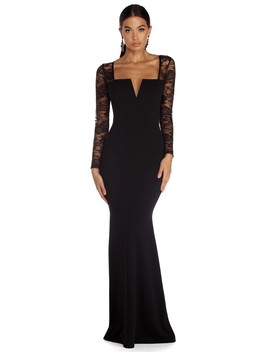 Roxanne Formal Illusion Lace Dress by Windsor