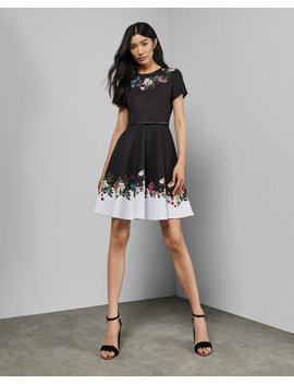 Oracle Skater Dress by Ted Baker