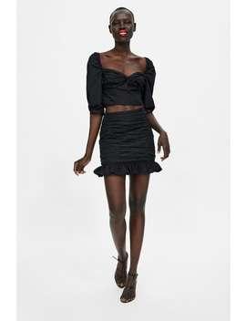 Draped Mini Skirt  Mini Skirts by Zara