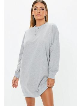 Tall Grey Oversized Sweater Dress by Missguided
