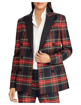 Plaid Blazer   100 Percents Exclusive by Lauren Ralph Lauren