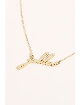 14k Script Necklace by Free People