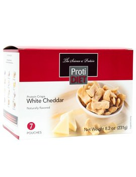 Protidiet    Protein Crisps   White Cheddar   Low Calorie   Low Carb   Gluten Free   7/Box by Proti Diet