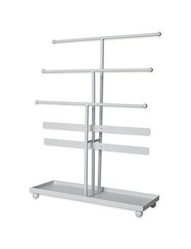 Home Traditions Z01649 Tree Tower, 3 Tier Metal With Modern Look And Jewelry Organization, White by Home Traditions
