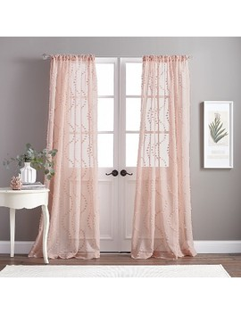 "84"" Dixon Wave Poletop Curtain Panel Blush by Chf Industries"