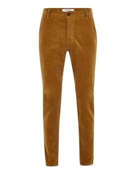 Gold Corduroy Stretch Skinny Pants by Topman