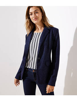 Speckled Modern Knit Blazer by Loft