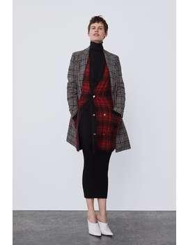 Plaid Coat  Coats Outerwear Woman Sale by Zara