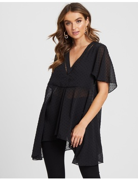 Iconic Exclusive   Chloe Flocked Tunic by Atmos&Here