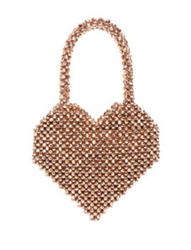 Maria Beaded Heart Shape Top Handle Bag by Loeffler Randall