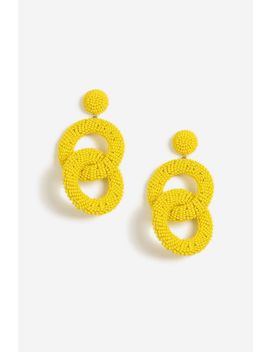Seedbead Link Drop Earrings by Topshop