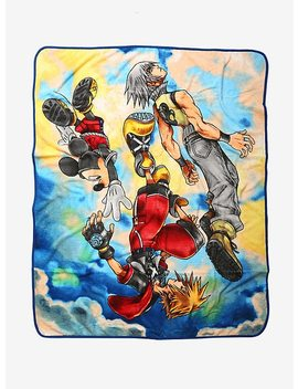 Disney Kingdom Hearts 3 D: Dream Drop Distance Throw Blanket by Hot Topic