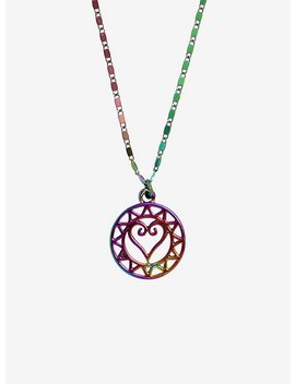 Disney Kingdom Hearts Anodized Logo Necklace by Hot Topic