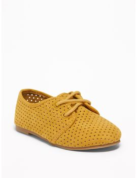 Faux Suede Oxfords For Toddler by Old Navy