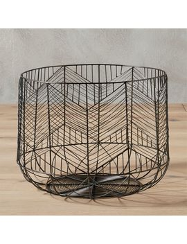Blanche Small Gunmetal Basket by Crate&Barrel