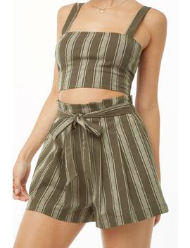 Set Crop Top & Short Rayas by F21 Contemporary
