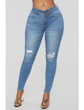 Can't Stop Me Distressed Jeans   Light Blue Wash by Fashion Nova