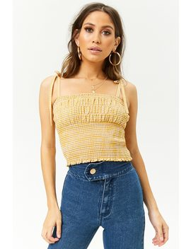 Crop Top Fruncido Cuadros Vichy by F21 Contemporary