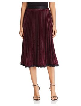 Joanie Velvet Pleated Skirt   100 Percents Exclusive by Le Gali