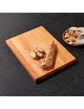 "John Boos 20""X15"" Reversible Cherry Cutting Board by Crate&Barrel"