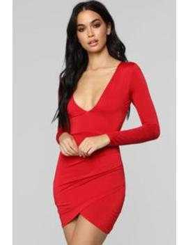 I Wanna Go Mini Dress   Red by Fashion Nova