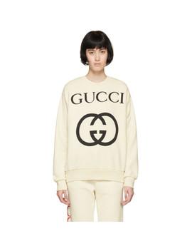 Off White Oversized Logo Sweatshirt by Gucci