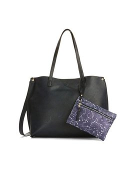 Metallic Sky Milly Reversible Tote With Pouch by Metallic Sky