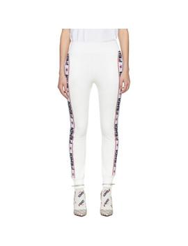 White 'fendi Mania' Lounge Pants by Fendi