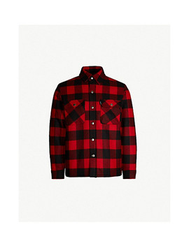 Lumberjack Checked Wool Blend Jacket by Sandro