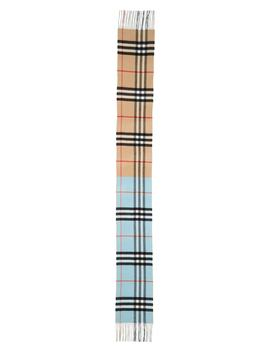 Reversible Giant Check Cashmere Scarf by Burberry