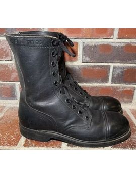Vtg 10/86 Military Issued Black Biltrite Steel Toe Combat Boots   Men's Size 9 R by Unbranded