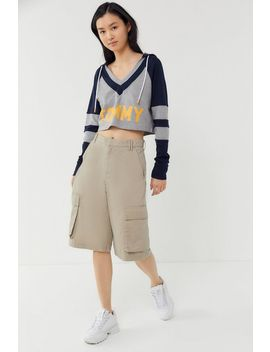 Tommy Hilfiger Uo Exclusive Retro Cropped Hoodie Sweatshirt by Tommy Hilfiger