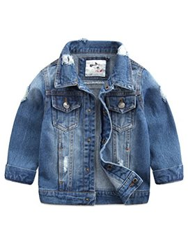 Baby Boys' Basic Denim Jacket Button Down Jeans Jacket Top by Abolai