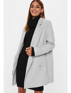 Grey Double Breasted Formal Coat by Missguided