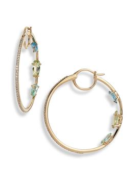 Gelato Cubic Zirconia Hoop Earrings by Nadri