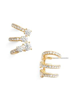 Multi Hoop Cubic Zirconia Earrings by Nadri