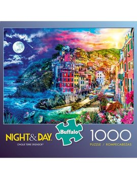 Buffalo Games   Night & Day Series   Cinque Terre Splendor   1000 Piece Jigsaw Puzzle by Unbranded