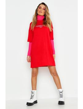 Happiness Looks Good T Shirt Dress by Boohoo